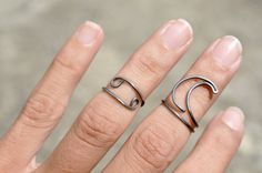 Cancer Zodiac Sign Ring Set Above Knuckle Rings by theELEPHANTpink, $12.50