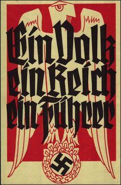 Schulvereinkarte, Ein Volk, Ein Reich, Ein Fhrer,