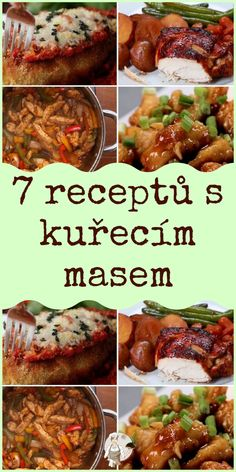Kuřecí maso Chicken Recipes, Food And Drink, Pizza, Menu, Healthy Recipes, Homemade, Baking, Vegetables, Lunches