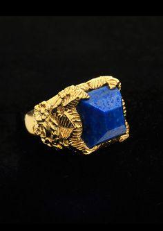 love.... Jade Jagger Lapis/Gold ring