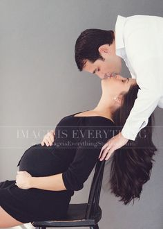 Portrait Photography Inspiration : Kisses Maternity Photography in NJ by Desiree Miller Maternity Studio, Maternity Poses, Maternity Portraits, Maternity Photographer, Maternity Chair, Newborn Pictures, Maternity Pictures, Pregnancy Photos, Couple Pregnancy Pictures