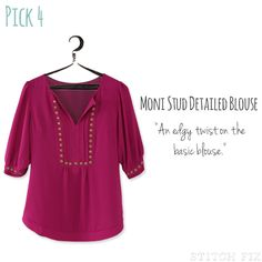 I still want The Moni Blouse...print or solid! No yellow or bright orange pls
