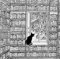"""Books. Cats. Life is good."" ~ Edward Gorey"