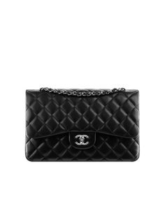 f18bd2b70a53 Classics - lambskin & silver-tone metal-black & burgundy SOMEDAY BEFORE I  DIE - classic Chanel bag- silver metal accent