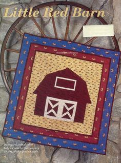 Little Red Barn Quilt Pattern Pieced LF