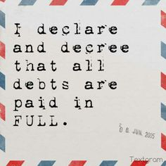 Be debt free!! #rfdreamboard https://alisonlogan.myrandf.com/