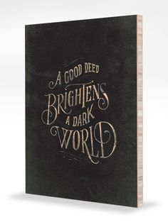 [fine art + support charity = genius] Good Deeds - Mounted by Jon Contino $69 on Help Ink