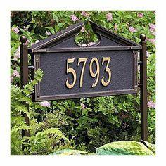 Federal Address Marker-Standard - BLACK/GOLD - Improvements by Improvements. $169.99