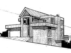 Eplans Contemporary-Modern House Plan - Four Bedroom Contemporary - 3320 Square Feet and 4 Bedrooms from Eplans - House Plan Code HWEPL66897