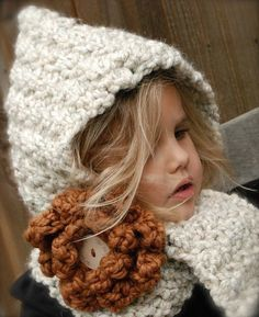 hooded scarf for the little ones!