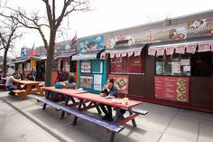 Market 707 is back in business for another year. Housed entirely in retrofitted shipping containers along the block of Dundas Street West just east of Ba. Best Restaurants In Toronto, The Neighbourhood, Bucket, Canada, Marketing, Coffee, Fall, Outdoor Decor, Home