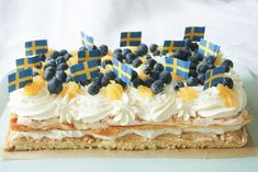 Birthday Wishes Funny, Fika, Let Them Eat Cake, Amazing Cakes, Food Inspiration, Sweden, Blueberry, Clean Eating, Treats