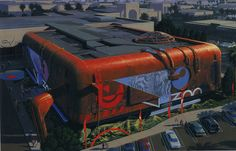 Virtual Zoo concept art by Syd Mead