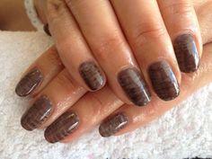 Guylian Chocolate Inspired hand-painted CND Shellac Designs xDBDx  www.facebook.com/DivineByDesignCNDNails