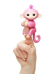Fingerlings Glitter Monkey- This is just ONE of the BEST toys for girls this age. These are the best TOYS and GIFTS for 7 YEAR OLD GIRLS!  These are the coolest presents to buy girls age seven for their birthday or Christmas.  If you want the best 7th bir