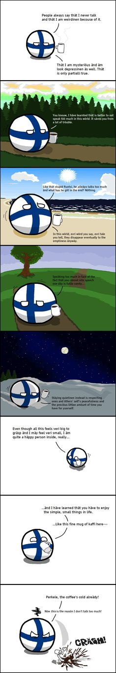 polandball Finlandball gets deep Finlandball gets deep Finlandball gets deep – WorldBall Rage Comics, Funny Comics, Satire, Meanwhile In Finland, Some Jokes, How To Make Comics, Hetalia, Best Funny Pictures, Funny Memes