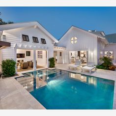 like the style of the poolhouse. don't like pool or how it comes right up to it. just like the white farmhouse vibe of poolhouse.