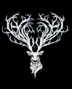 white stag or sacred hart