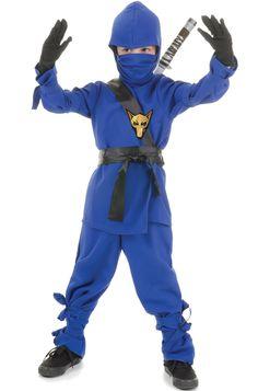 Brand New Secret Japanese Ninja Child Halloween Costume (Blue)