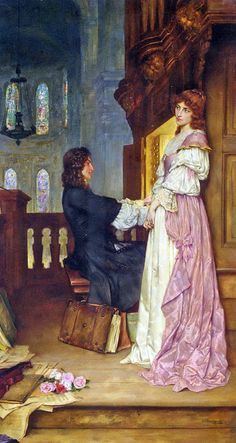 """""""If Music Be the Food of Love"""" by William A. Breakspeare (1855-1914)."""