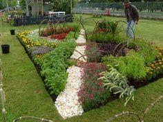 kieselsteine garten gartendekoration gartendeko selbstgemacht, Garten ideen