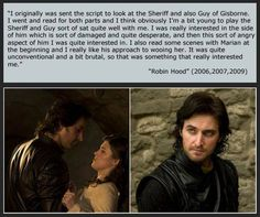 """Richard Armitage on Auditioning for the role of Guy of Gisborne in BBC's """"Robin Hood""""."""