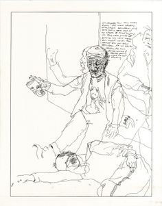 Alan Cober's Social Realism sketches of the homeless and accompanied with notes about their lives. Touch of humane.