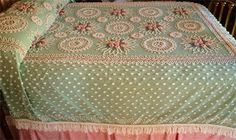 Vintage chenille bedspread.  My Nana used to have one of these!!  Oh the memories!