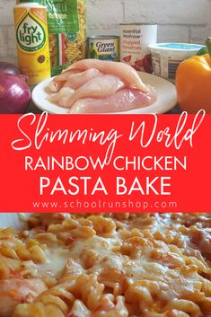This chicken pasta bake recipe is one of the nicest Slimming World style pasta recipes I've made! It's packed full of healthy, colourful veg and even my kids asked for seconds! Syn-free if you count the cheese as your healthy extra too! #slimming world #healthyeating #familyfood #pastarecipes