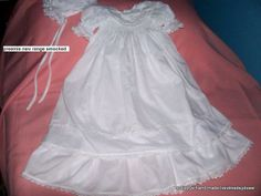 smocked 2 layer christening gown hand embroidered $130 ring 0427820744