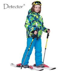 68.90$  Watch now - Detector 2016 Boys Ski Sets Winter Waterproof Windproof Kids Ski Jacket Children Outdoor Warm Hooded Snowboard Sports Suits   #magazine
