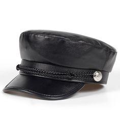 Barato Beret feminino outono inverno chapéus para as mulheres senhoras pu  couro beret cap boina feminina 9b684a2ac10