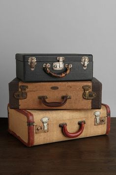 One-Of-A-Kind Vintage Medium Suitcase  #UrbanOutfitters