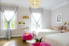 Toddler / Big Girl Bedroom - love this modern, clean room!