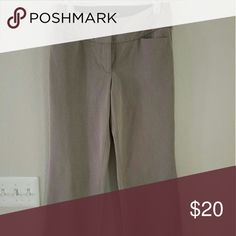 Express Editor Dress Pants (4) Nice, hardly worn. The color is beige. The material is thick. Boot leg bottoms. Paid $80 originally, but they're too big for me now. Sizes run big in Express. Pants Trousers