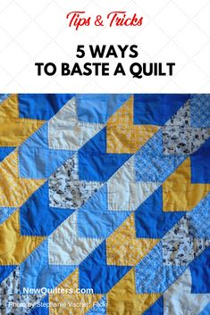 5 Ways to Baste a Quilt Quilting Classes, Quilting Tips, Quilting Projects, Scrappy Quilts, Easy Quilts, Basting A Quilt, Couture Sewing Techniques, String Quilts, Leftover Fabric