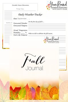 This fall journal is a fun, engaging way to encourage your kids to celebrate the new season through writing, creating and much more! #Fall #Autumn #Journal #Journaling #Printable #Homeschool #Homeschooling #YearRoundHomeschooling