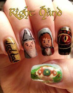 Hobbit Nails - Right Hand