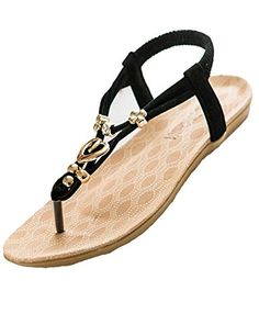 766c057b209 Introducing Ninicat Womens Summer Sandals Flat casual shoesSize 7 BM. Great  Product and follow us to get more updates!