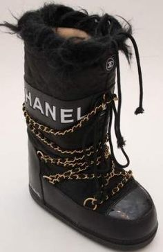 Chanel moon boots