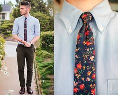 Dude. flowers. (by Edward Honaker) http://lookbook.nu/look/3767617-dude-flowers