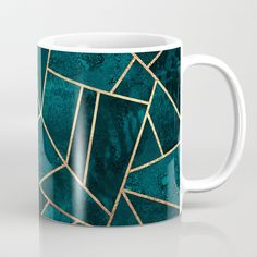 Buy Deep Teal Stone Coffee Mug by elisabethfredriksson. Worldwide shipping available at Society6.com. Just one of millions of high quality products available.