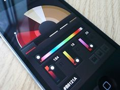 Nice colour wheel UI for the iPhone. Flat design is in. Im gonna need this when i get an iphone