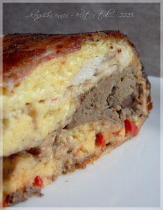 Csirkemájas csirketorta Meatloaf, Banana Bread, Sandwiches, Food And Drink, Desserts, Recipes, Tailgate Desserts, Meat Loaf, Dessert