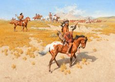 FRANK MCCARTHY (1924-2002) Guardians of the Horse Herd oil on canvas