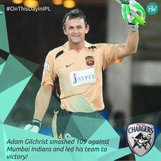 #OnThisDayInIPL 2008, Adam Gilchrist hit his maiden T20 century off just 47 balls! Mumbai Indians were completely demolished by this Aussie wicketkeeper!  #IPL #IPL2016