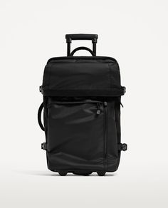 Image 1 of BLACK MULTIFUNCTION TROLLEY CASE from Zara