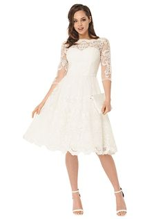 329fbf1aec1094 CHI CHI FLORA DRESS Beautiful Baroque Style Mid Length Tea Dress with  embroidered mesh detail. Fully lined with mesh underskirt and padded bust  in White or ...