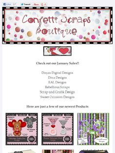 Ad:New Products & Sales @ Confetti Scraps Boutique!  http://mad.ly/e8cb13