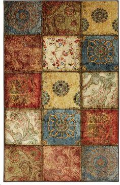 """Mohawk Home Free Flow Artifact Panel Printed Rug, 7'6""""x10', Multi"""